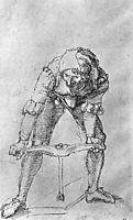 Study of a man with a Drill , durer