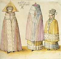 Three Mighty Ladies from Livonia, 1521, durer