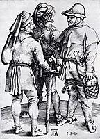 Three Peasants In Conversation, 1497, durer