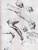 Three Studies From Nature For Adam-s Arms In The 1504, 1504, durer
