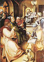 Twelve year old Jesus in the Temple, 1497, durer