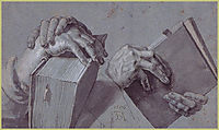 Two Hands Holding A Pair Of Books, durer