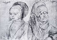 A Young Girl Of Cologne And Durer-s Wife, 1520, durer
