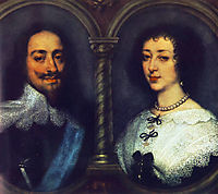 Charles I of England and Henrietta of France, 16, dyck