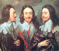 Charles I in Three Positions, 1635-1636, dyck