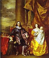 Charles I and Queen Henrietta Maria with Charles, Prince of Wales and Princess Mary, 1632, dyck