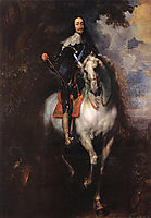 Equestrian Portrait of Charles I, King of England, 1635-1640, dyck