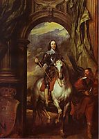 Equestrian Portrait of Charles I, King of England with Seignior de St Antoine, 1633, dyck