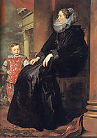 Genoese Noblewoman with her Son, 1626, dyck
