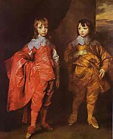 George Villiers, 2nd Duke of Buckingham and His Brother Lord Francis Villiers, 1635, dyck