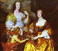 Lady Elizabeth Thimbleby and Dorothy, Viscountess Andover, 1637, dyck