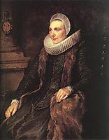 Maria Bosschaerts, Wife of Adriaen Stevens, dyck