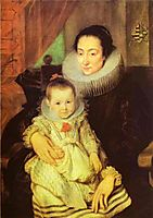 Marie Clarisse, Wife of Jan Woverius, with Their Child, dyck