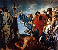 Mozes and the brass snake, 1620, dyck