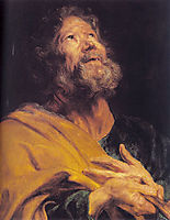 The Penitent Apostle Peter, 1617-1618, dyck