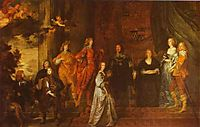 Philip, 4th Earl of Pembroke and His Family, c.1630, dyck