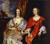 Portrait of Anna Dalkeith, Countess of Morton, and Lady Anna Kirk, c.1631, dyck