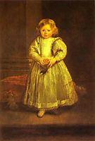 Portrait of Clelia Cattaneo, Daughter of Marchesa Elena Grimaldi, 1623, dyck