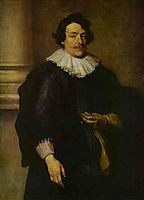 Portrait of a Gentleman Dressed in Black, in Front of a Pillar, c.1630, dyck