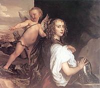 Portrait of a Girl as Erminia Accompanied by Cupid, 1638, dyck
