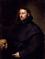 Portrait Of A Monk Of The Benedictine Order, Holding A Skull, 16, dyck