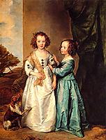 Portrait of Philadelphia and Elisabeth Cary, c.1635, dyck