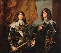 Portrait of the Princes Palatine Charles Louis I and his Brother Robert, 1637, dyck