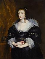 Portrait of Queen Henrietta Maria, 16, dyck
