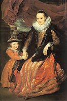 Portrait of Susanna Fourment and Her Daughter, 1620, dyck