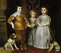 Portrait of the Three Eldest Children of Charles I, 16, dyck