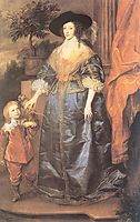 Queen Henrietta Maria and her dwarf Sir Jeffrey Hudson, 1633, dyck