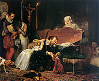 Rubens mourning his wife, dyck