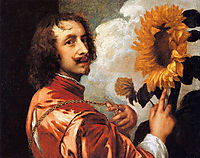Self portrait with a Sunflower, 1632, dyck