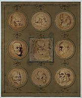 Sheet of Studies, 1635, dyck