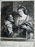 Titian-s Self Portrait with a Young Woman, 1630, dyck