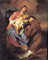 The Vision of Saint Anthony, 1629, dyck
