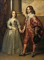William II, Prince of Orange and Princess Henrietta Mary Stuart, daughter of Charles I of England, 1641, dyck