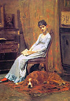 The Artist-s Wife and his Setter Dog, 1884-1888, eakins