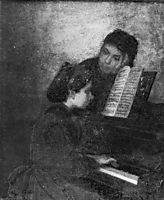 At the Piano, c.1871, eakins