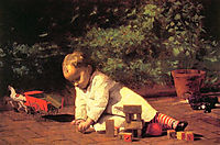 Baby at Play, 1876, eakins