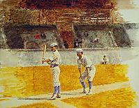 Baseball Players Practicing, 1875, eakins