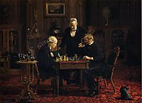 The Chess Player, 1876, eakins