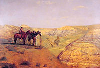 Cowboys in the Badlands, 1888, eakins