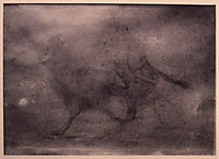 Drawing of a Camel and Rider, 1858, eakins