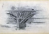 Drawing Of Girard Avenue Bridge, eakins