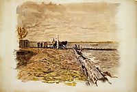 Drawing the Seine, 1882, eakins