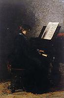 Elizabeth at the Piano , eakins