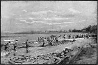Hauling the Seine , 1882, eakins