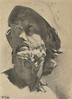 Head of a Warrior , eakins