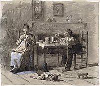 Illustration for Neelus Peeler-s conditions, 1879, eakins